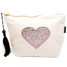 LTLBAG-Cream RS Amethyst Heart