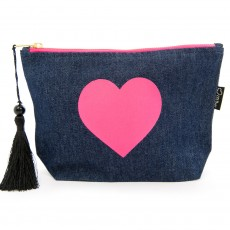 LTLBAG-Denim Neon Pink Heart