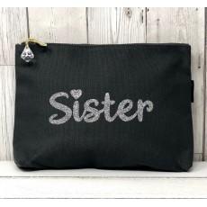Bespoke Script Bag - Sister Silver Font