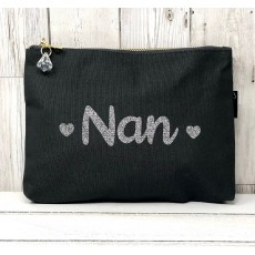 Bespoke Script Bag - Nan Silver Font