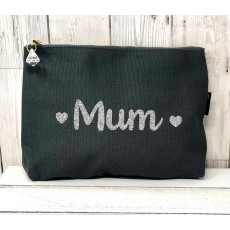 Bespoke Script Bag - Mum Silver Font