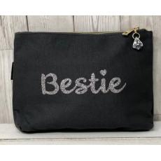 Bespoke Script Bag - Bestie Silver Font