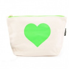 LTLBAG-Cream Neon Green Heart