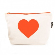 LTLBAG-Cream Neon Orange Heart