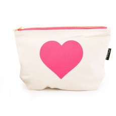 LTLBAG-Cream Neon Pink Heart
