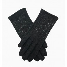 Sparkly Soft Gloves -Grey