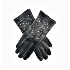 Sparkly Velvet Gloves - Grey