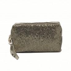 Rectangle Glitter Make-Up Bag-Gold