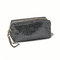 Rectangle Glitter Make-Up Bag-Grey