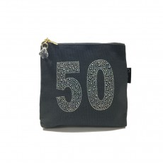 LTLBAG-Crystal Zip-Grey-50th