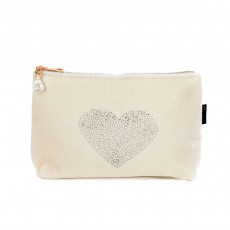 LTLBAG-Crystal Zip-Natural-Heart-Large