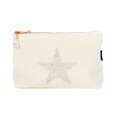 LTLBAG-Crystal Zip-Natural-Star-Large