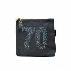 LTLBAG-Crystal Zip-Grey-70th