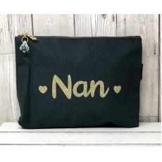 Bespoke Script Bag - Nan Gold Font Font
