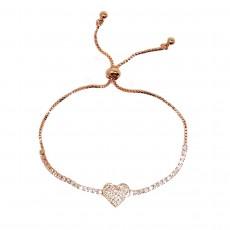 BG-Heart Pull Bracelet-Rose Gold