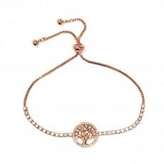 Bg-Tree of Life Sparkly Bracelet-Rose Gold