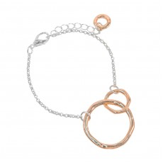 HB-Duo Circle Bracelet Rose Gold