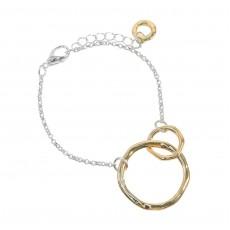 HB-Duo Circle Bracelet Gold