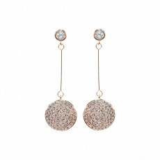 Disc Sparkly Earrings RG