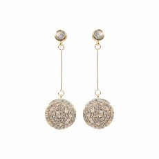 Disc Sparkly Earrings YG