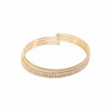 Winding Sparkly Bangle YG