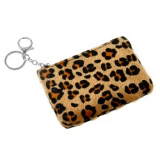 Keyring Pouch-Brown Animal Print