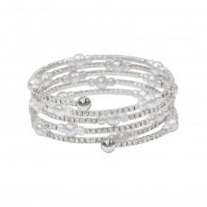 Multi Pearl Wrap Silver