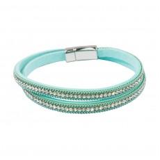 Multi Wrap Magnetic Bracelet Turquoise
