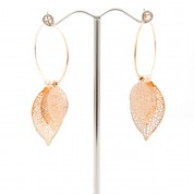 FJE-Leaf 3D Earrings Gold