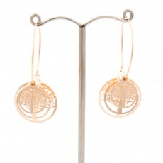 Tree Of Life 3D Earrings Gold