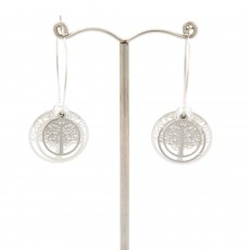 Tree Of Life 3D Earrings Silver