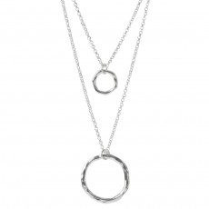 HN-Two Layer Circle Necklace