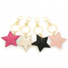 Faux Leather Star