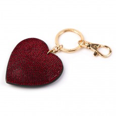 Keyring-Red Glitz Heart