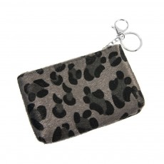 Keyring Pouch-Grey Animal Print