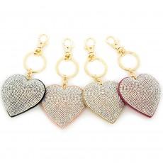 Glitz Heart Keyring