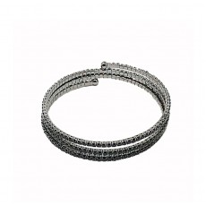 Winding Sparkly Bangle Black