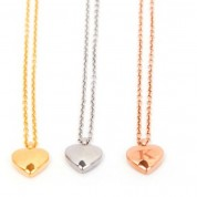 TS-Puffed Heart Necklace