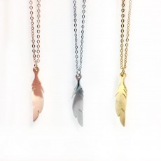 SS Feather Necklace