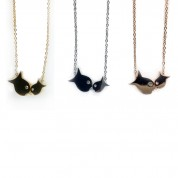 SS Floating Fish Necklace