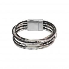 Multi Metallic Wrap - Silver/Black
