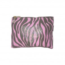 Zebra Large Pink Heart