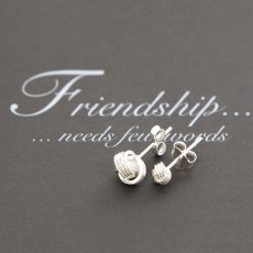 4mm and 7mm Friendship Knot Earrings