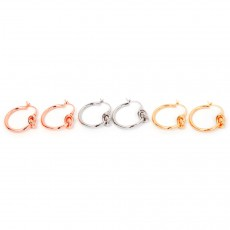 Friendship Knot Hoop Earrings