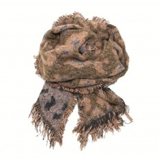 Animal Print Snugly Glitter Scarf  Pink