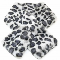 SC-Animal Fur Snood Blue