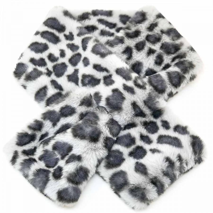 SC-Animal Fur Snood Blue