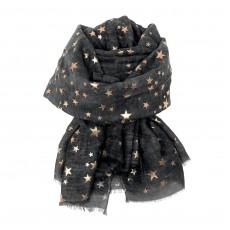 SC-Charcoal Stars-Rose Gold Foil