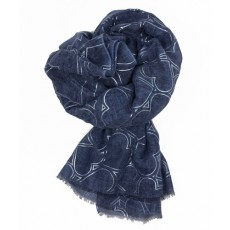 SC-Denim Blue Hearts SIL Print