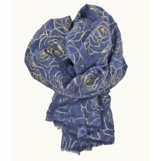 SC-Denim Blue Roses YG Print